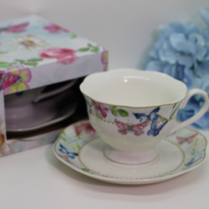 BUTTERFLY TEA CUP SET
